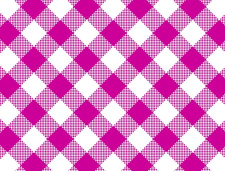 Jpg.  Woven pink and white gingham fabric.  Stock Photo