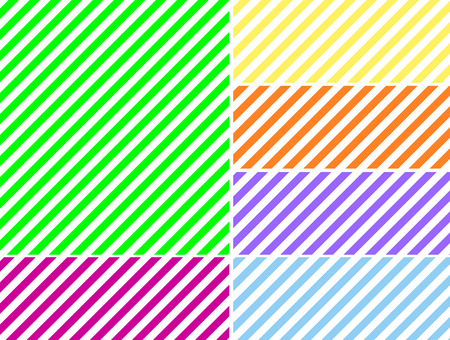 Seamless, continuous, diagonal striped background in six spring colors.