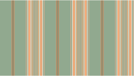 Green and tan striped continuous seamless fabric or wallpaper background. Vector