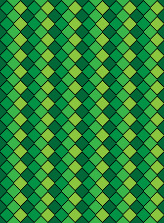 Vector eps8, green variegated diamond snake style wallpaper texture pattern. Vector