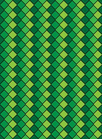 Vector eps8, groen variegated diamond slang stijl achtergrond structuur patroon.