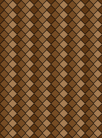 brown variegated diamond snake style wallpaper texture pattern. Stock Vector - 7005332
