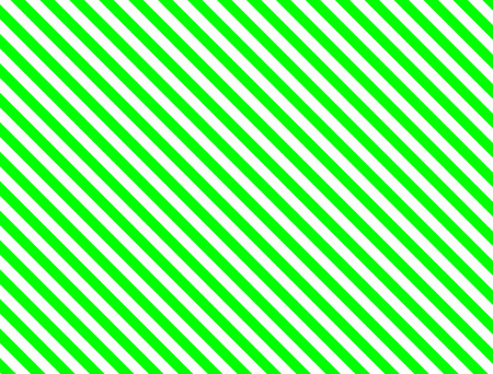 Seamless, continuous, diagonal striped background in green and white. Stock Illustratie