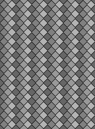 black, white and gray variegated diamond snake style wallpaper texture pattern. Banco de Imagens - 7347127
