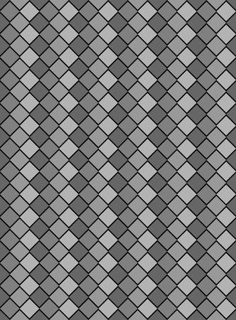 Schwarz, weiß und grau variegated Schlange Stil tapate textur Rautenmuster.  Standard-Bild - 7347127