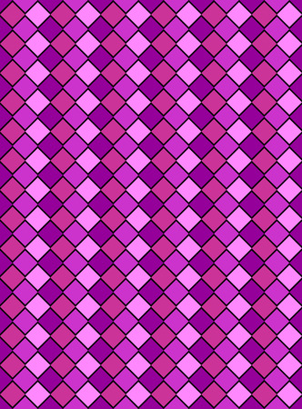pink and purple variegated diamond snake style wallpaper texture pattern. Vector