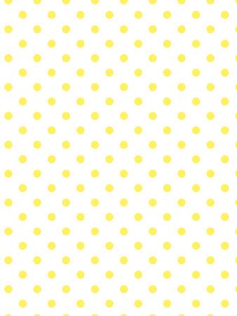 白い背景の黄色の水玉。