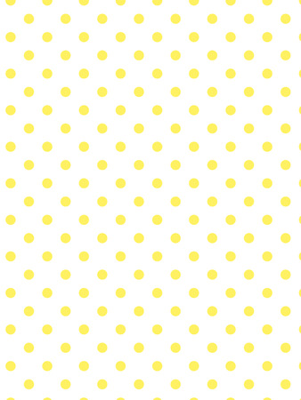 White background with yellow polka dots. Vector
