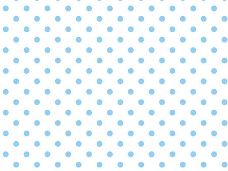 Fond blanc à points bleus.