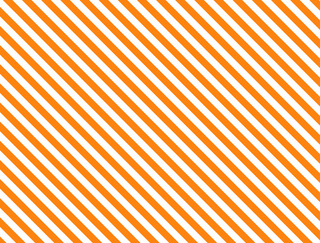 Seamless, continuous, diagonal striped background in orange and white (eps8)