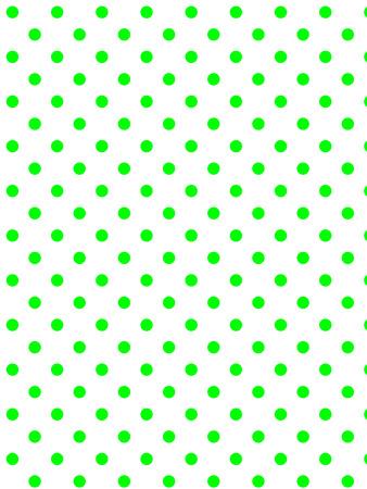 白の背景に緑色に水玉 (eps8)  イラスト・ベクター素材