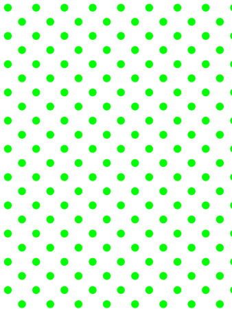 White background with green polka dots (eps8)  Ilustração