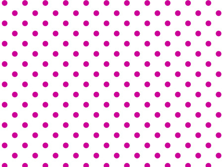 White background with pink polka dots (eps8)
