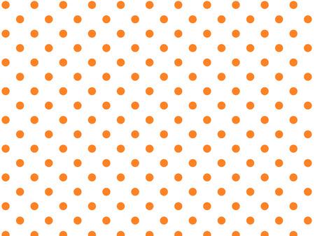 白の背景にオレンジ ポルカ ドット (eps8)