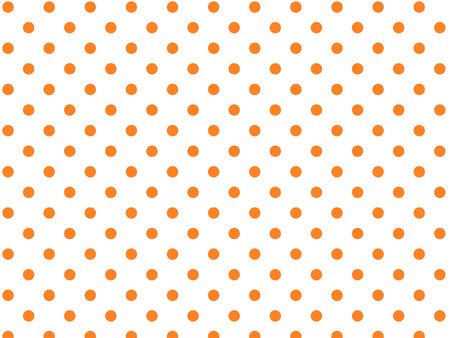 polka dots: White background with orange polka dots (eps8)
