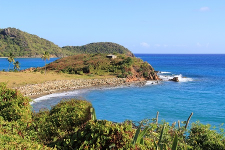 antigua: Coastline in Antigua Barbuda Stock Photo