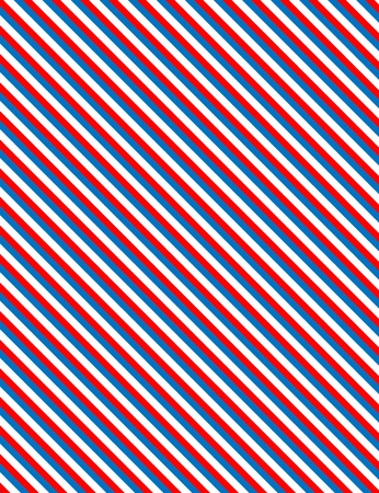 Red, White and blue patriotic diagonal striped background Stock Vector - 13092437