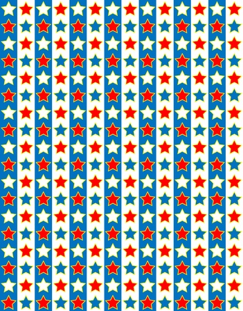 Red, White and blue patriotic striped star background  Vector