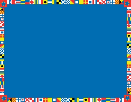 maritimo: borde rojo, blanco y azul marino o el marco de las banderas