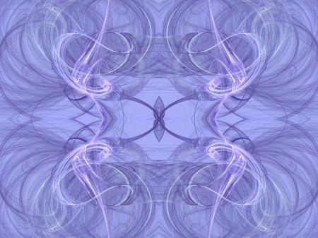 back ground: Seamless fractal textile pattern in pastel blue or lavender. Stock Photo