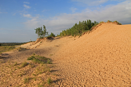 Sand dunes in Sleeping Bear National Park, Michigan, USA. photo
