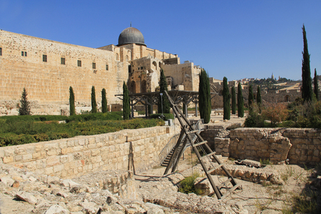 holiest: Al-Aqsa mosque is located on the south side of the temple mount in Jerusalem, Israel, and is the 3rd holiest site in Islam.