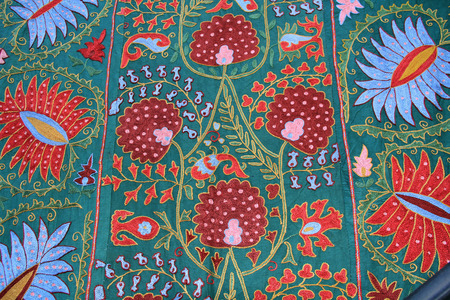 dcor: Red, Blue and Green Tapestry wall hanging found in Jerusalem, Israel.
