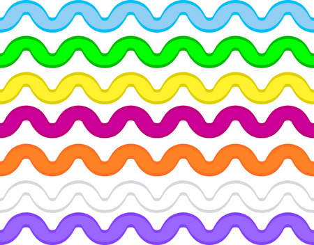 Vector eps8 ric rac in 7 colors. Çizim
