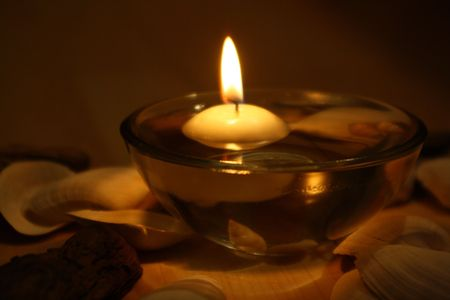romantic candle at spa Stock Photo - 5730986