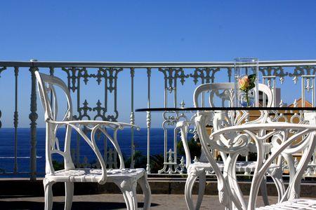 Terrace: romantic summer furniture photo