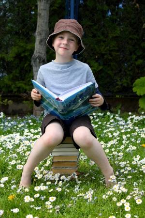 likes: boy likes to read books