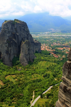 Panorama from Meteora hills photo