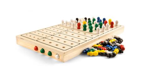 brain teaser: Mastermind - Wooden Brain Teaser Game - isolated on white