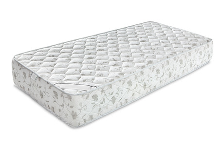 sleep well: Mattress that supported you to sleep well all night isolated on white background
