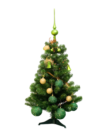chrismas: Plastic Chrismas tree with green top isolated on white background