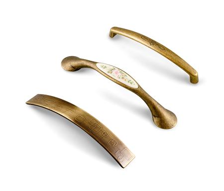 furniture: different furniture accessories - door furniture handles isolated