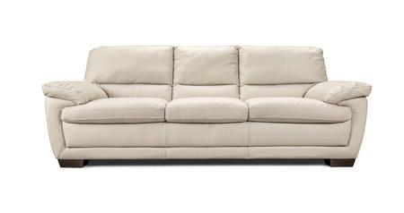高級革のソファが白い背景で隔離