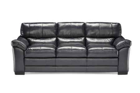 loveseat: Luxury leather sofa isolated on white background
