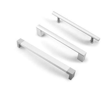 different furniture accessories - door furniture handles isolated
