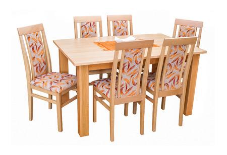 dining table and chairs: Dining table and chairs isolated on white