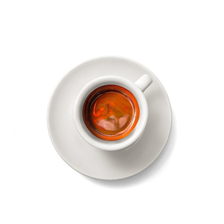 espresso cup: Cup of espresso coffee isolated on white