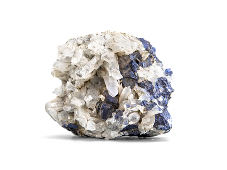 sulphide: Galena metallic ore mineral sample a rare earth mineral of zinc and lead isolated on white with clipping path Stock Photo