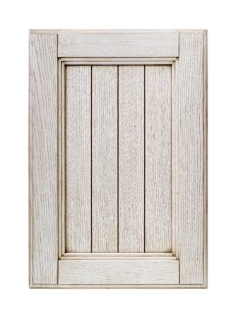 フロント キッチン木製フレーム キャビネット ドア白で隔離