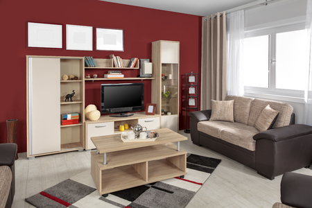 Inter von einem modernen Wohnzimmer in Farbe Standard-Bild - 52028852