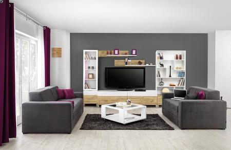 Inter von einem modernen Wohnzimmer in Farbe Standard-Bild - 52028853