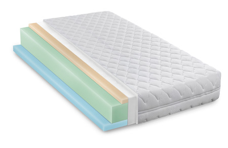 cushioned: Memory foam - latex mattress cross section  photo illustration - hi quality modern Stock Photo