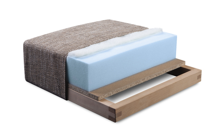 ラテックスとボンネルの家具シート - フォーム、構造を開く断面ソファ、アームチェア、マットレス、家具製造販売業-