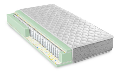 Hybrid foam latex bonnell spring mattress cross section - hi quality and modern Stockfoto