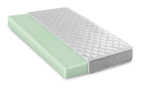 Memory foam - latex mattress cross section  photo illustration - hi quality modern Stock Photo