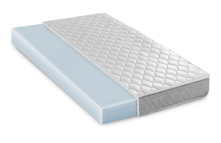 Traagschuim - latex matras doorsnede foto illustratie - hi kwaliteit moderne